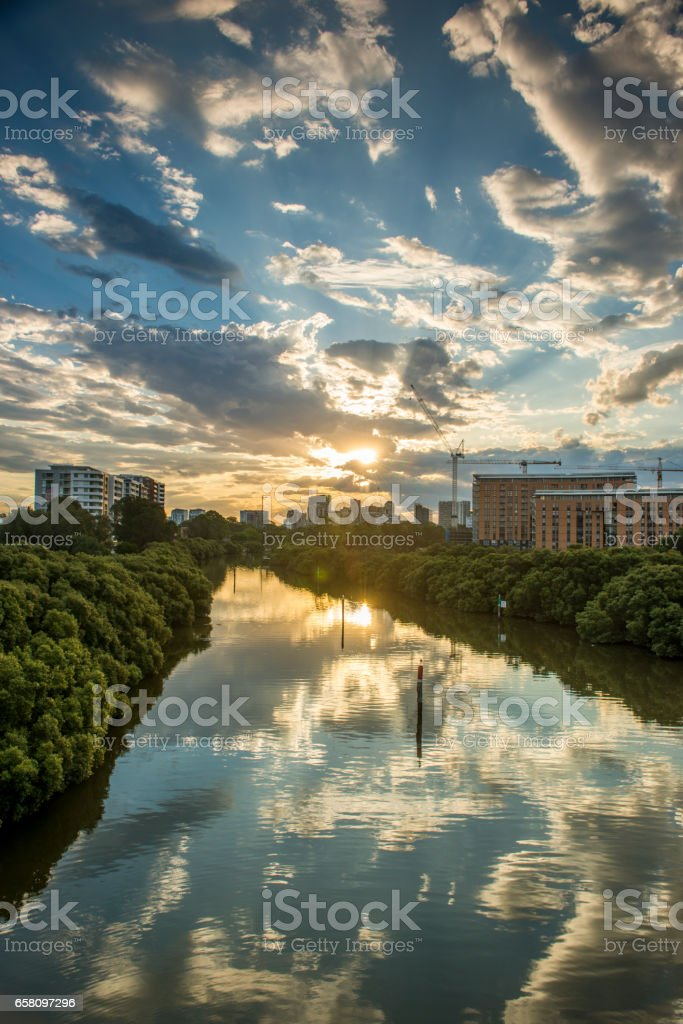 Parramatta river in west of Sydney. royalty-free stock photo