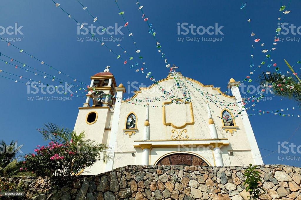 Parroquia de Nuestra Senora Guadalupe, La Crucecita, Oaxaca, Mexico stock photo