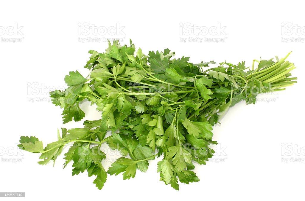 parsley isolated #2 royalty-free stock photo