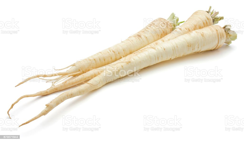 Parsley root isolated stock photo