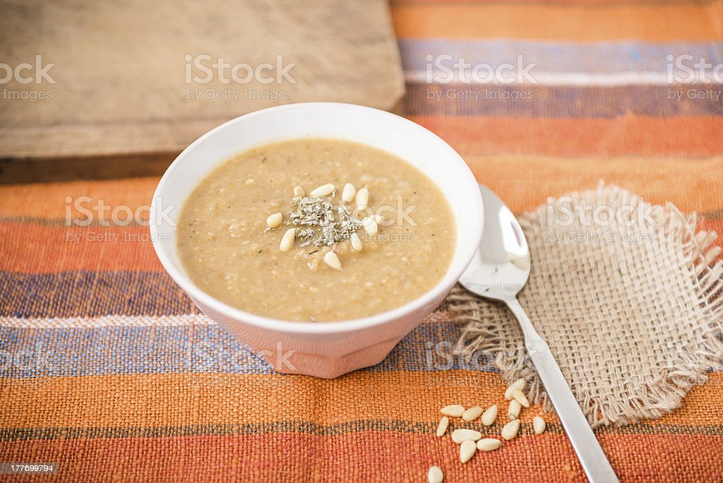 Parsnip Cream Soup royalty-free stock photo