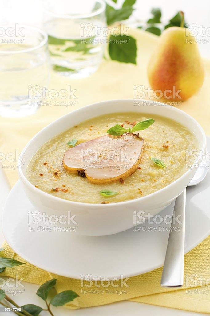 Soupe à la crème de panais photo libre de droits