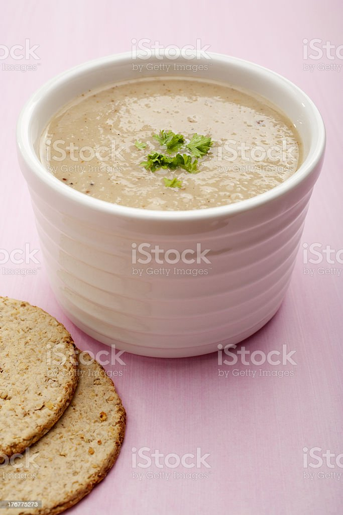 Parsnip Soup Vertical royalty-free stock photo