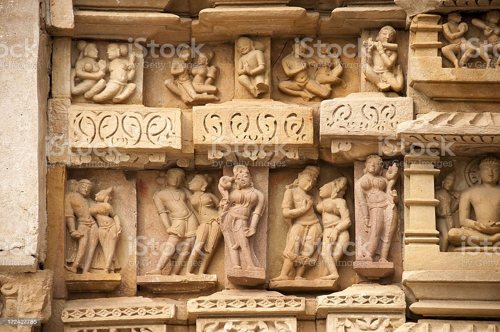 Parsvanath Jain Temple in Khajuraho royalty-free stock photo