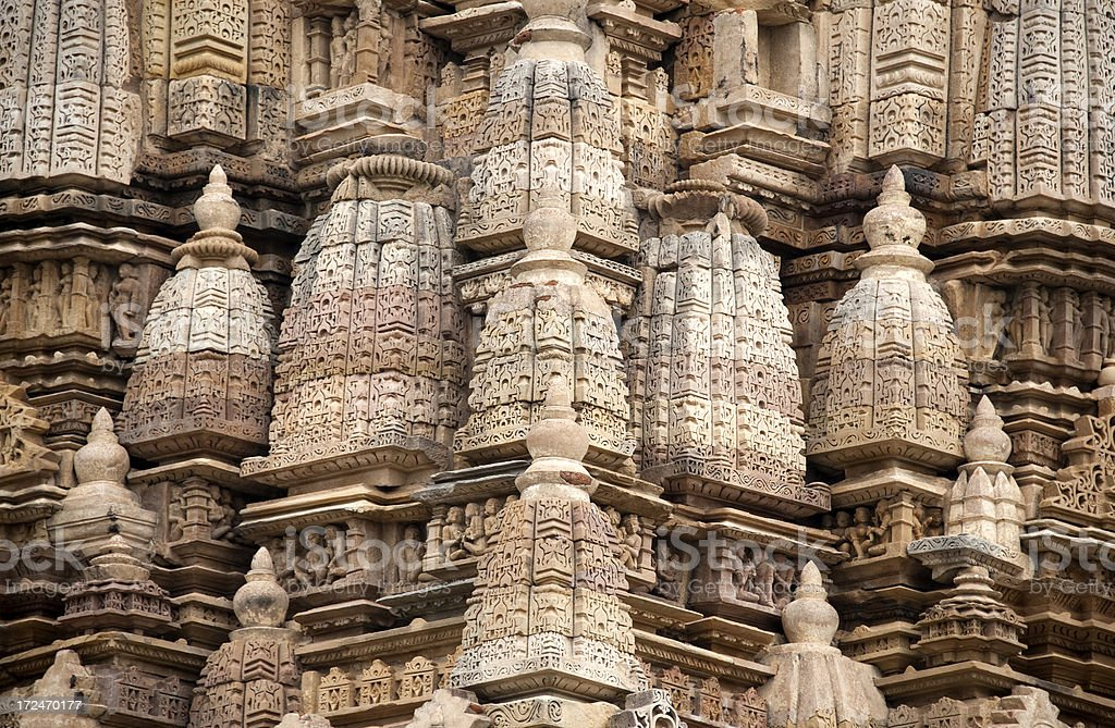 Parsvanath Jain Temple in Khajuraho royalty-free stock photo