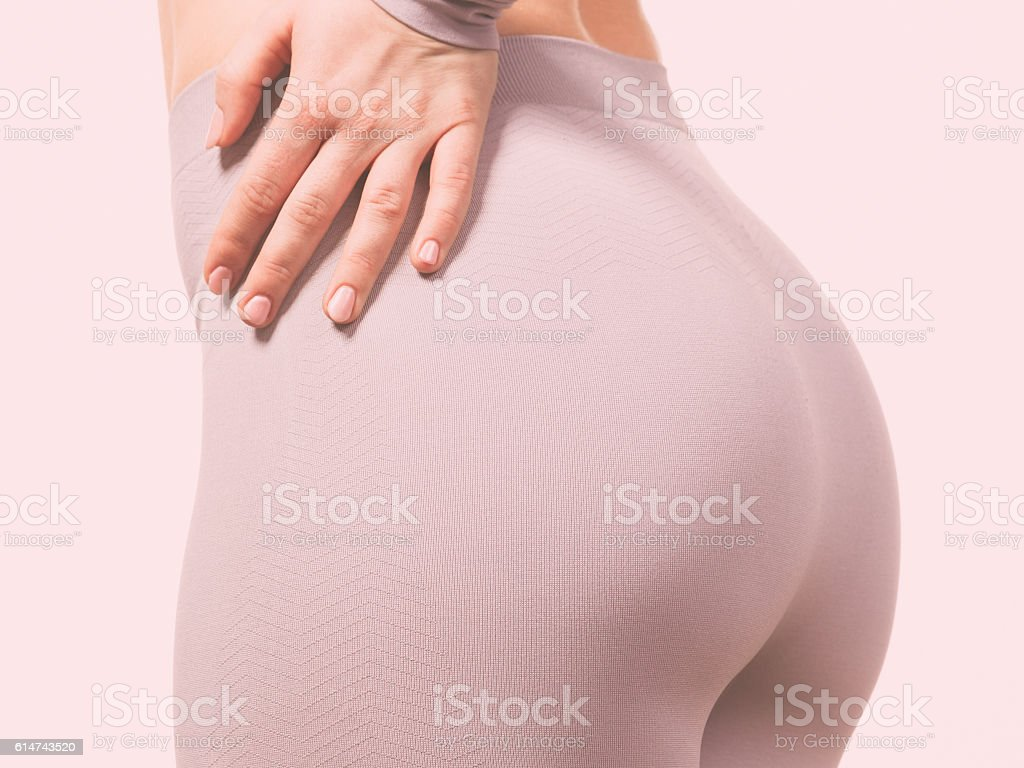 Part body picture with underwear. stock photo