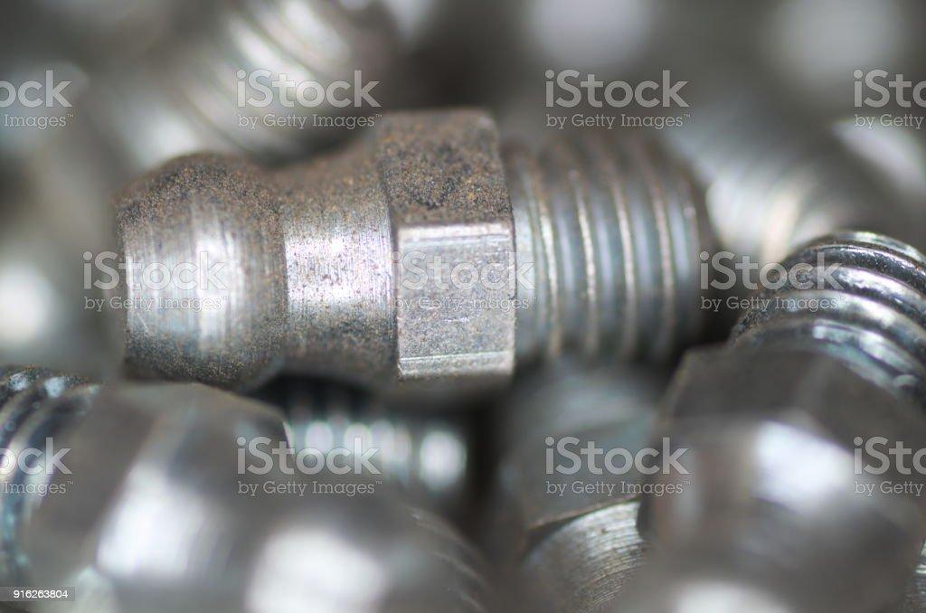 Part for lubricator, closeup stock photo