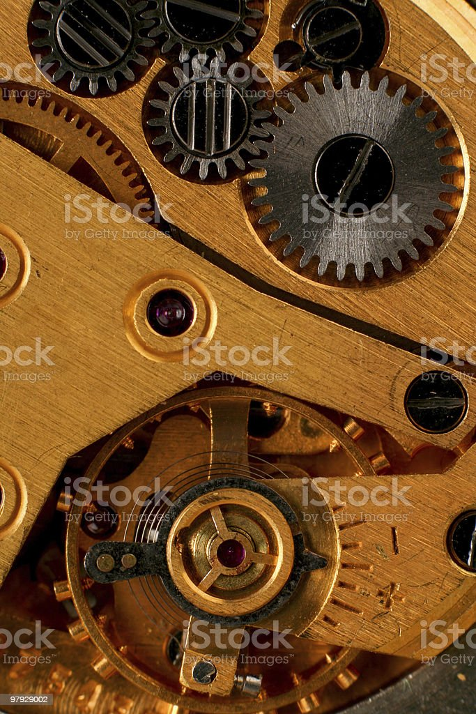 Part machine watch royalty-free stock photo