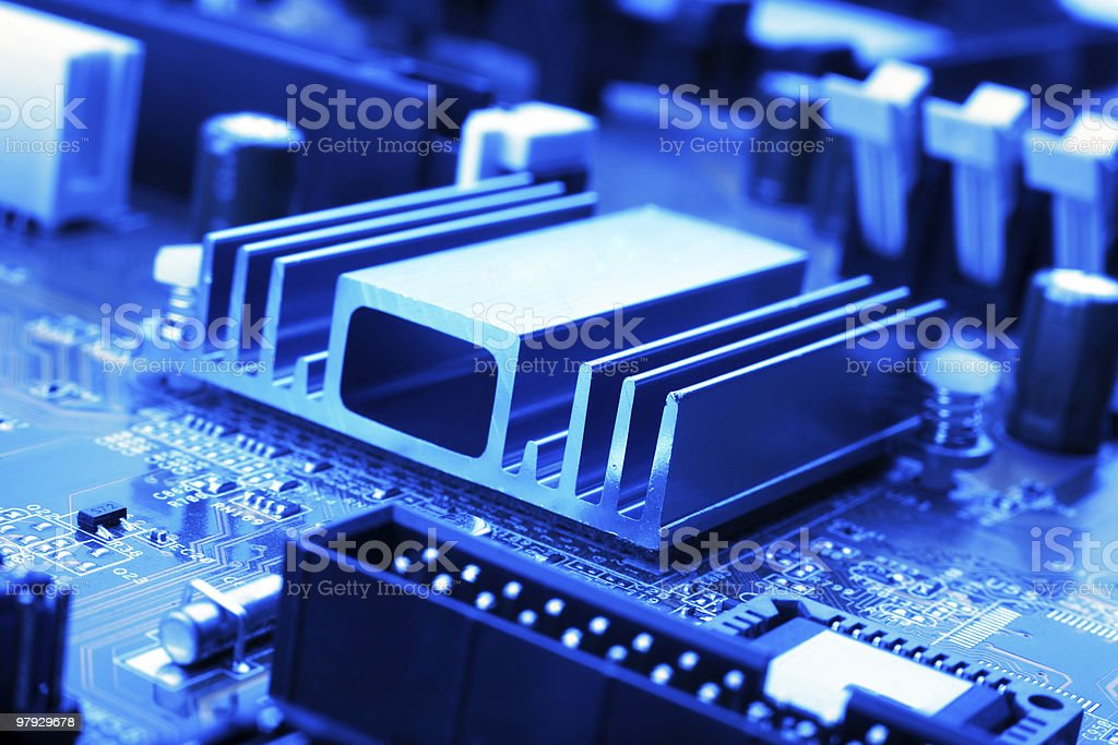 Part motherboard royalty-free stock photo