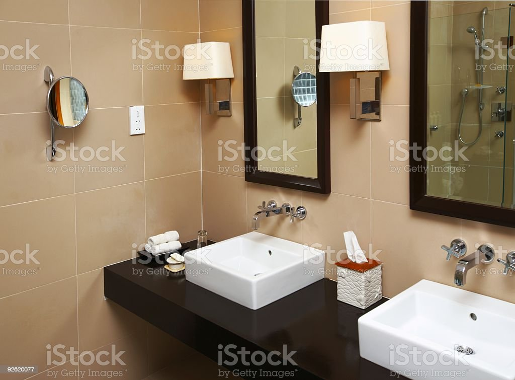Part of a bathroom stock photo