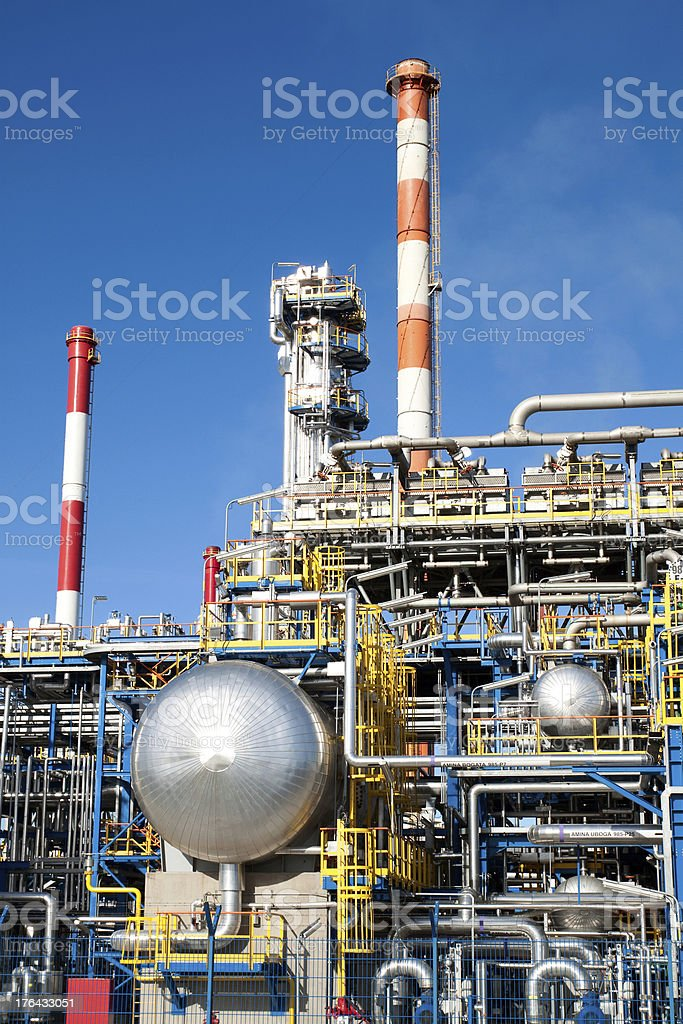 Part of a big oil refinery royalty-free stock photo