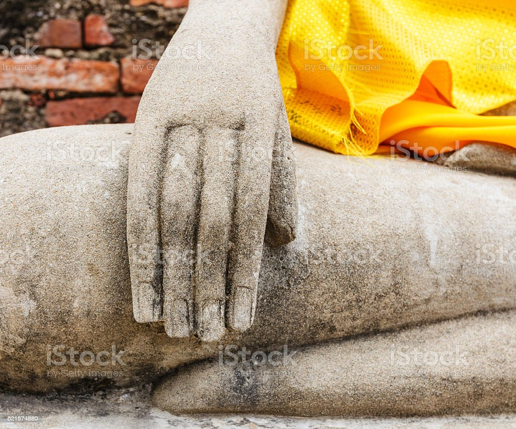 Part of a buddha statue photo libre de droits