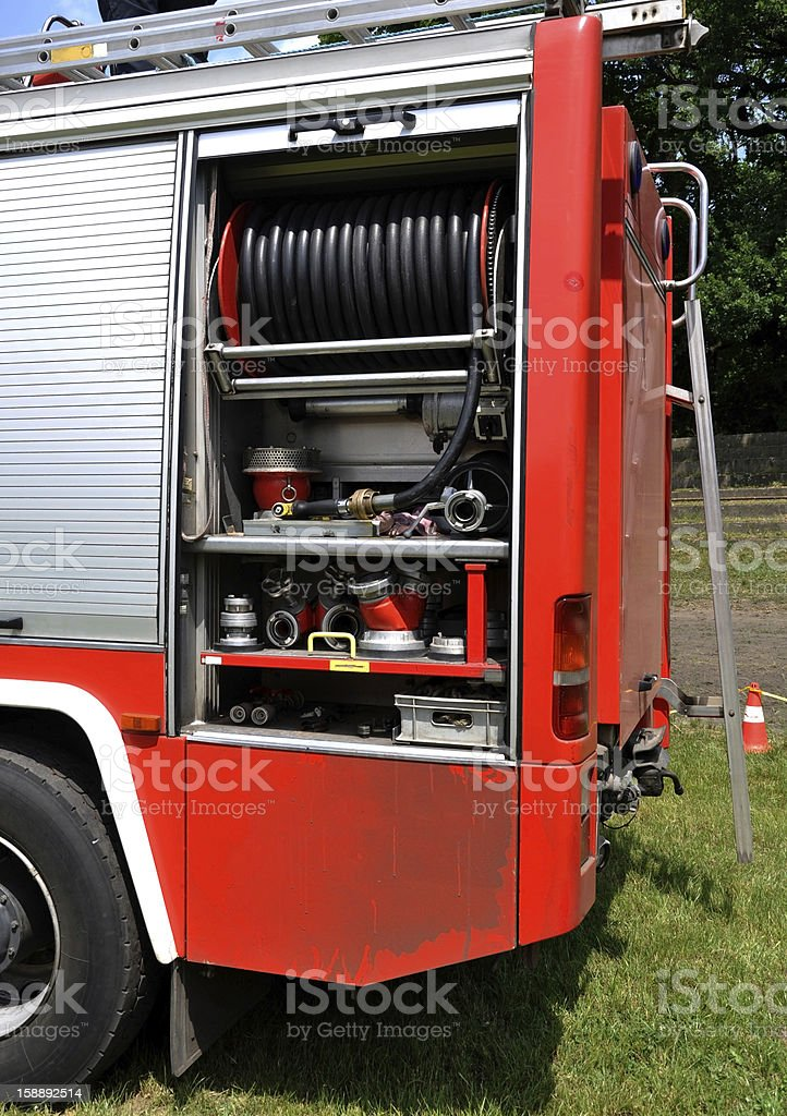 part of a fire truck royalty-free stock photo