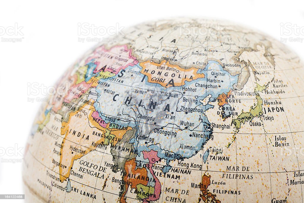 Part of a globe royalty-free stock photo