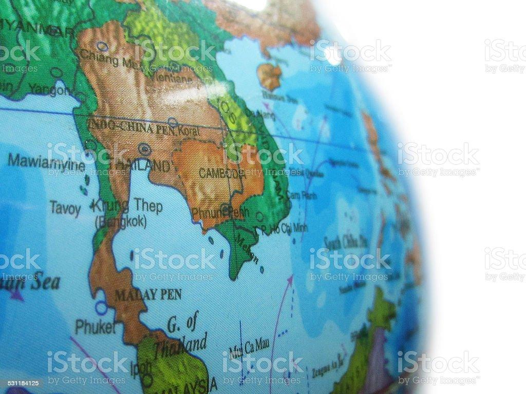Thailand Karte Welt.Teil Einer Welt Mit Karte Von Thailand Stockfoto Und Mehr Bilder Von