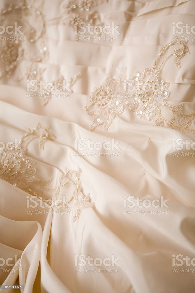 part of a luxury dress royalty-free stock photo
