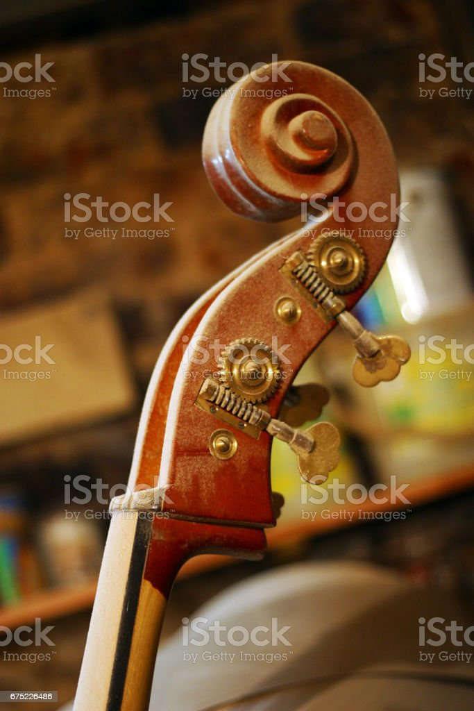Part of a musical instrument in a dust royalty-free stock photo