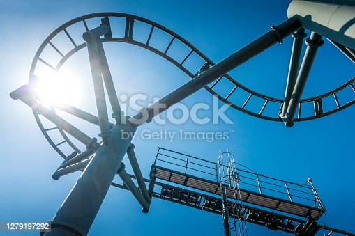 part of a roller coaster