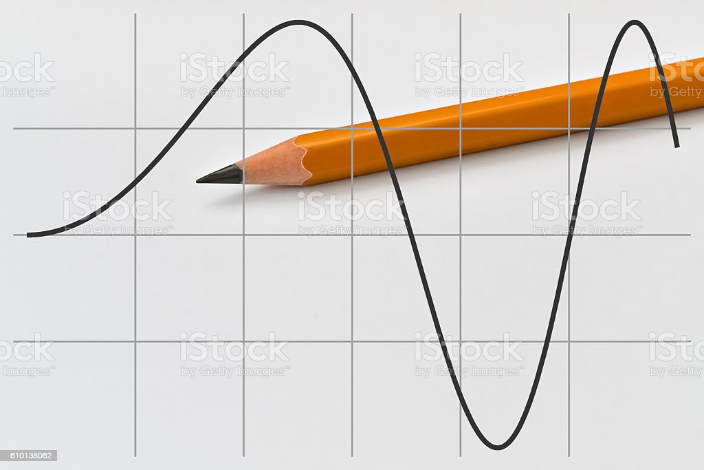 Part of a sine function stock photo