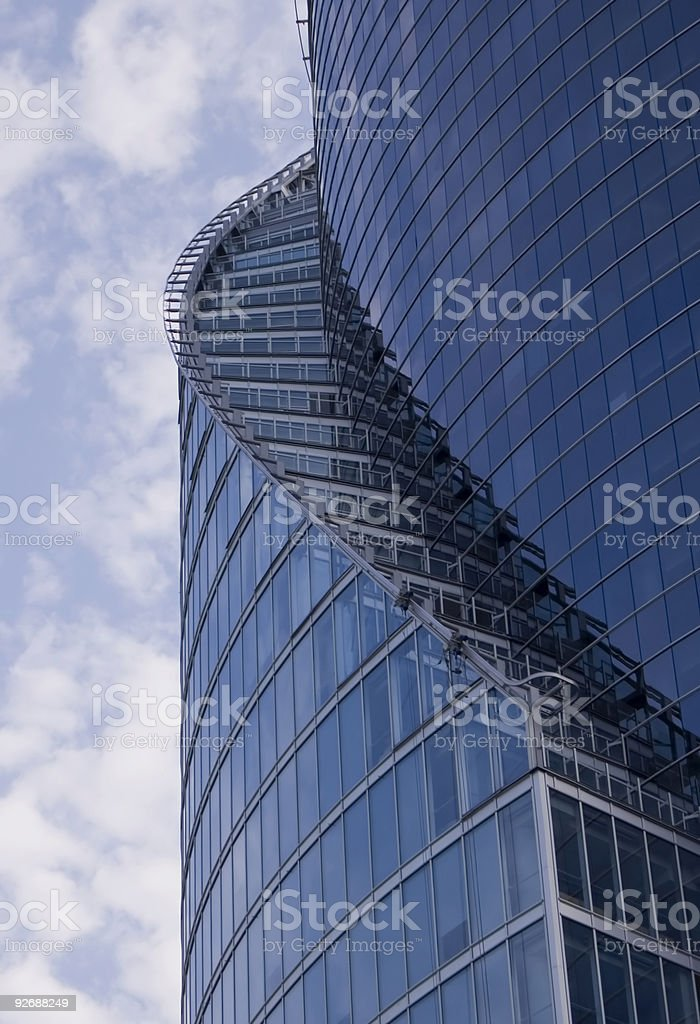 Part of a skyscraper royalty-free stock photo