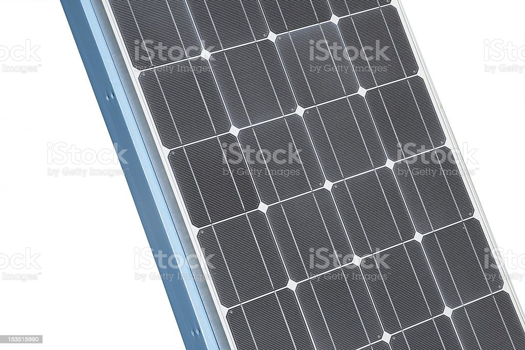 Part of a Solar Panel Close-up stock photo