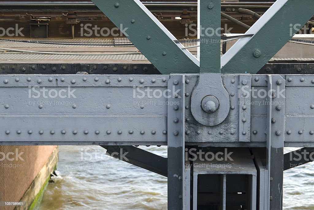 Part of a steel bridge royalty-free stock photo