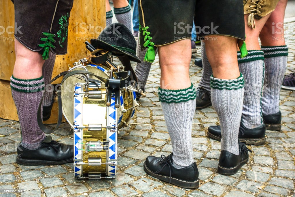 part of a typical bavarian musician stock photo