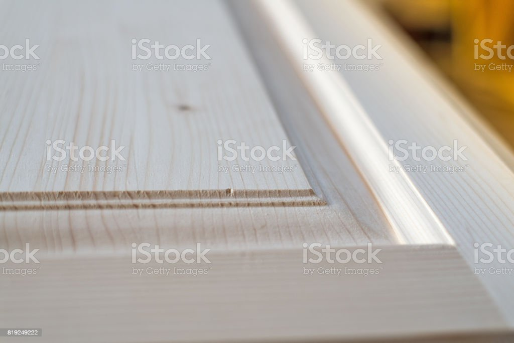 Part Of A Wooden Furniture Door. Natural Model. Selected Focus. Royalty Free