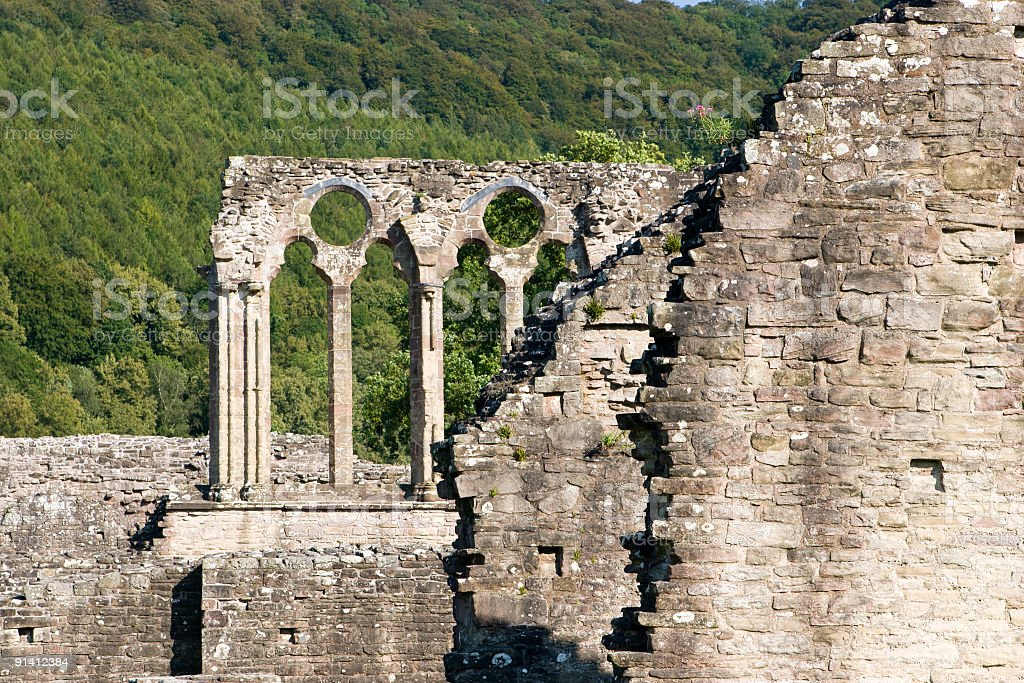 Part Of Abbey Ruins stock photo