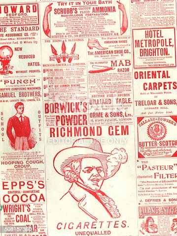 1070355804 istock photo Part of an advertisement page from Punch, 1897 508157360