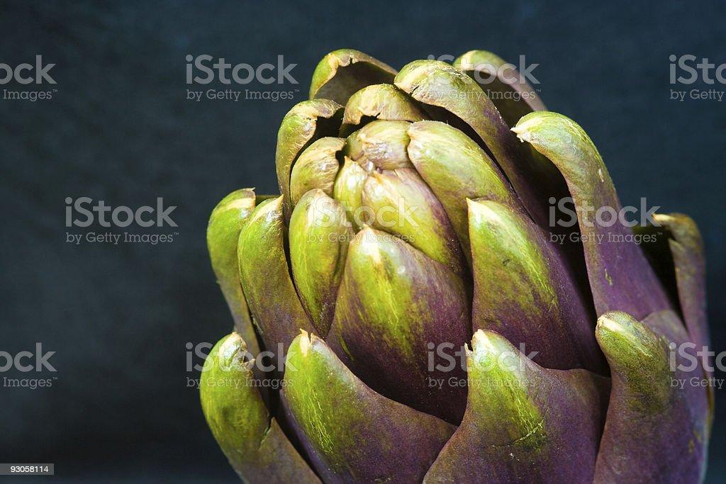 part of an artichoke stock photo
