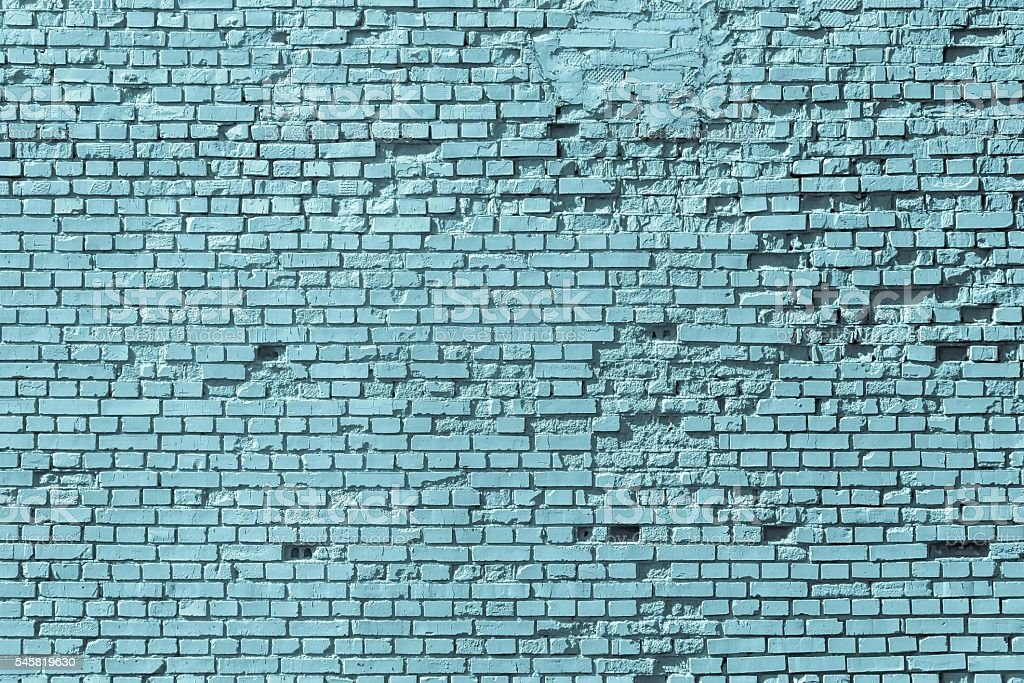 part of an old blue brick wall stock photo