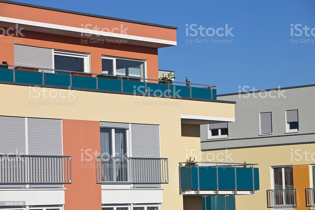 Part of Apartment Building royalty-free stock photo