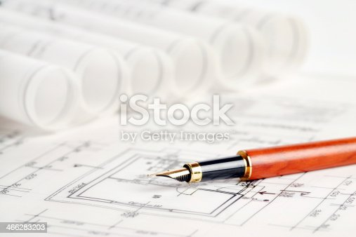 istock Part of architectural project. 466283203