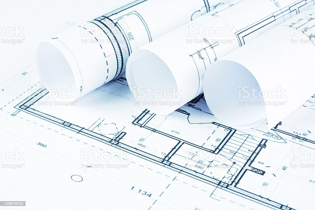 Part of architectural project royalty-free stock photo