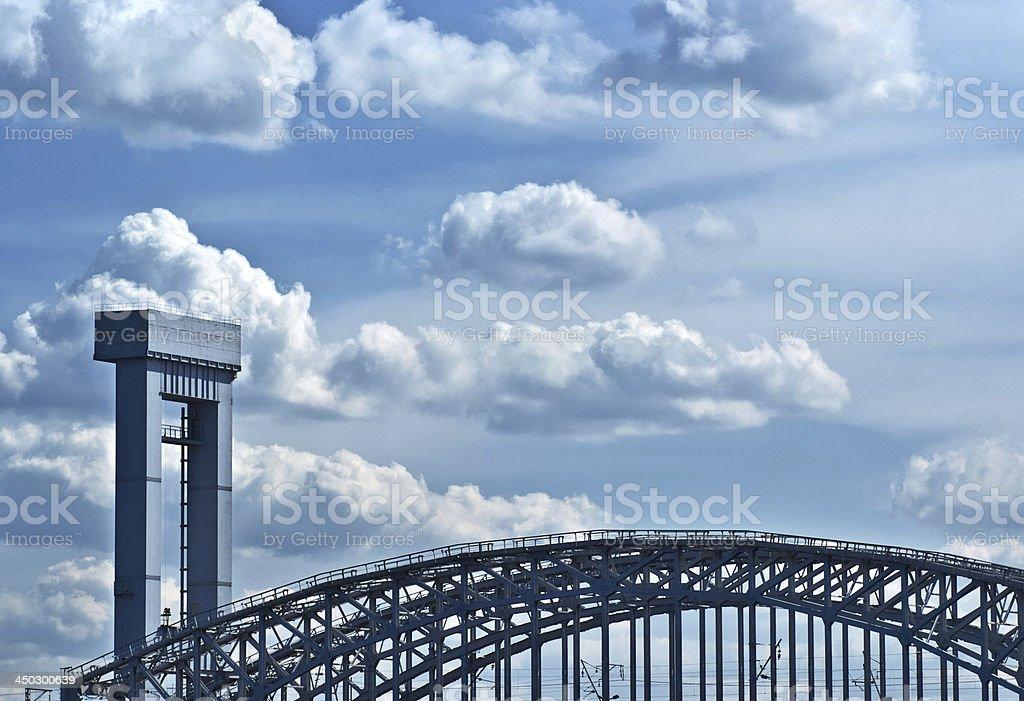 Part of Bridge royalty-free stock photo