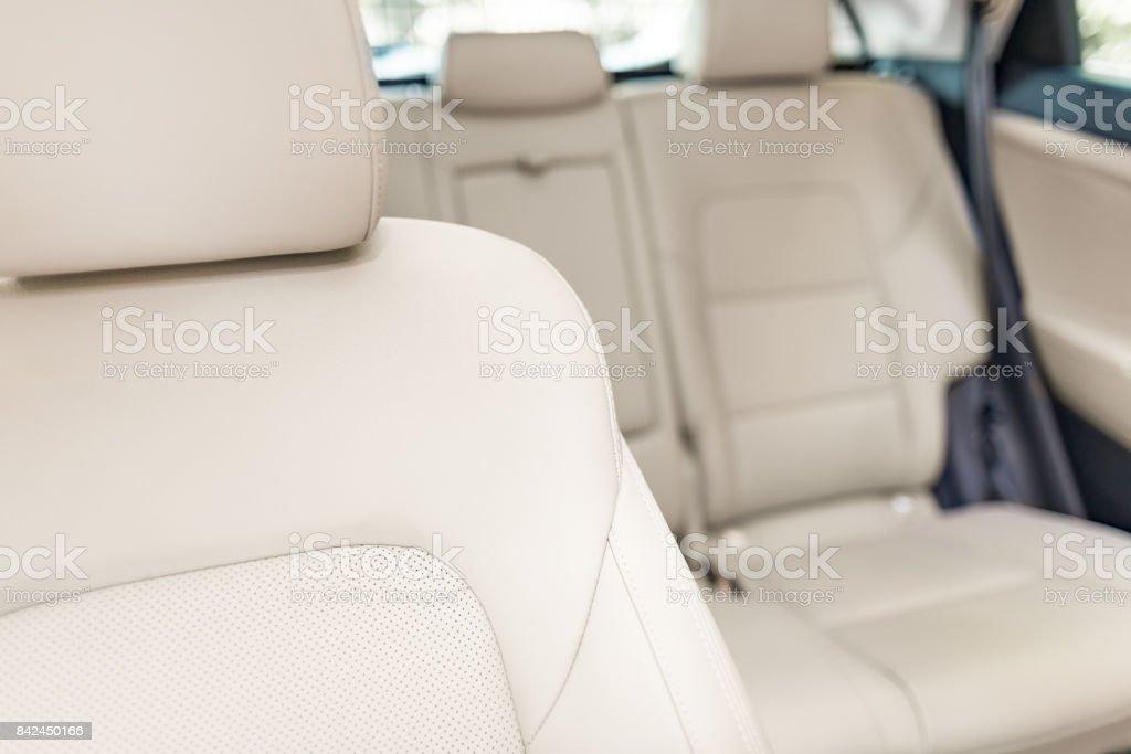 Teil des hellen Leder Autositz. – Foto