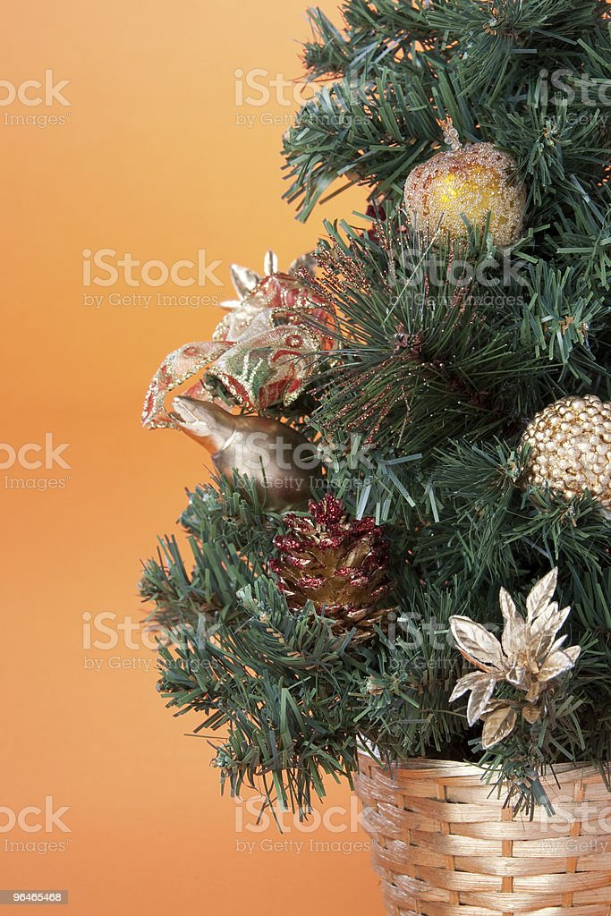 Part of christmas tree royalty-free stock photo