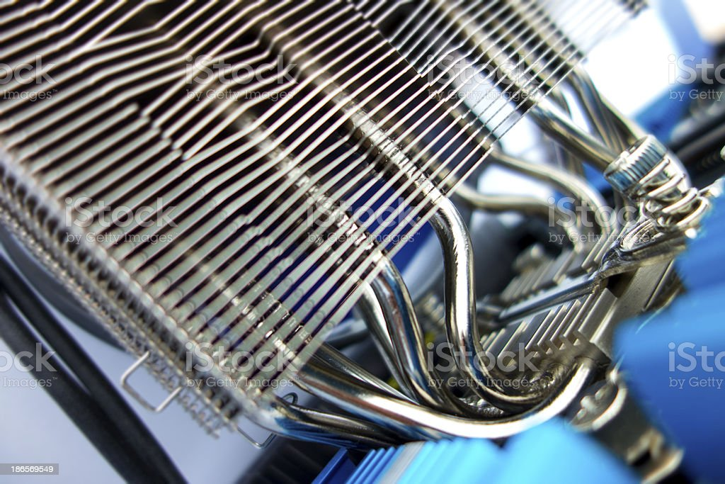 Part of cooler Engine inside a computer stock photo