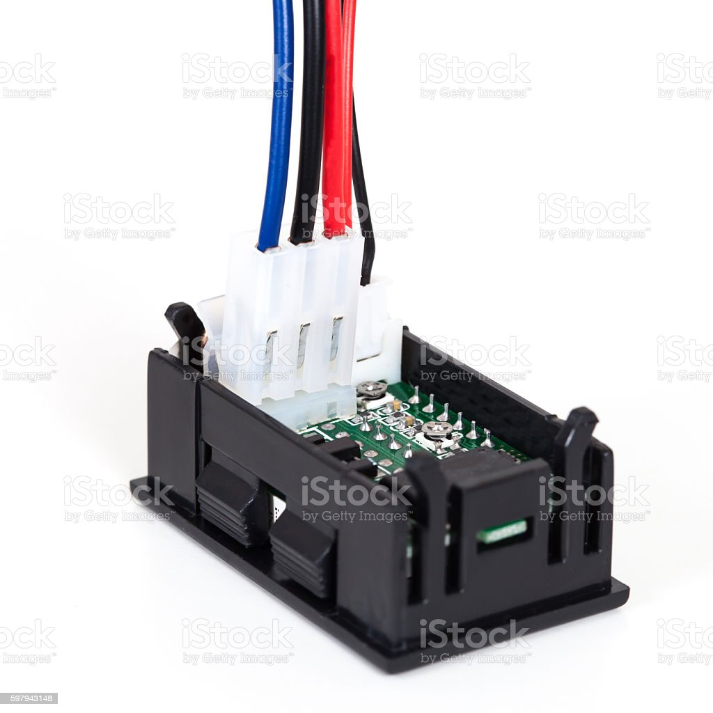 part of digital volt meter for dc volt foto royalty-free