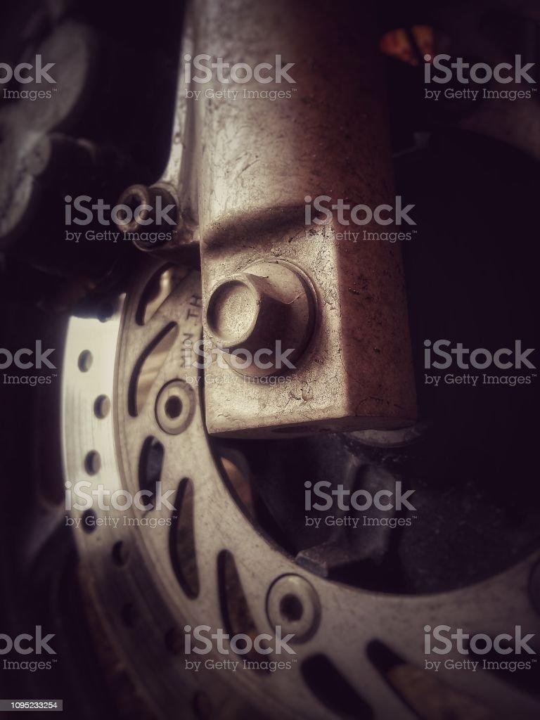 Part of disc brake, motorcycle part