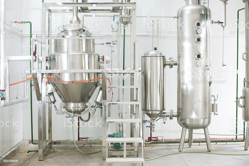Part of distillery room stock photo