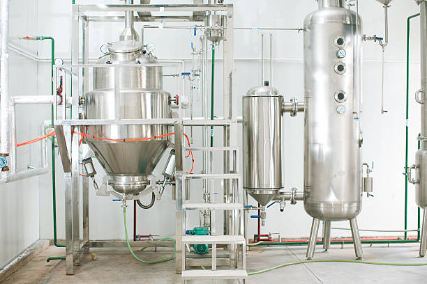 part of distillery room - brewery tanks stock pictures, royalty-free photos & images