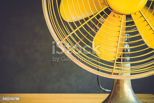 Part of electric fan on a table