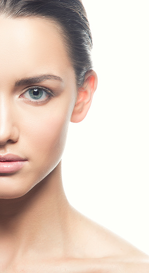 Health Care And Spa Concept - Attractive Young And Healthy