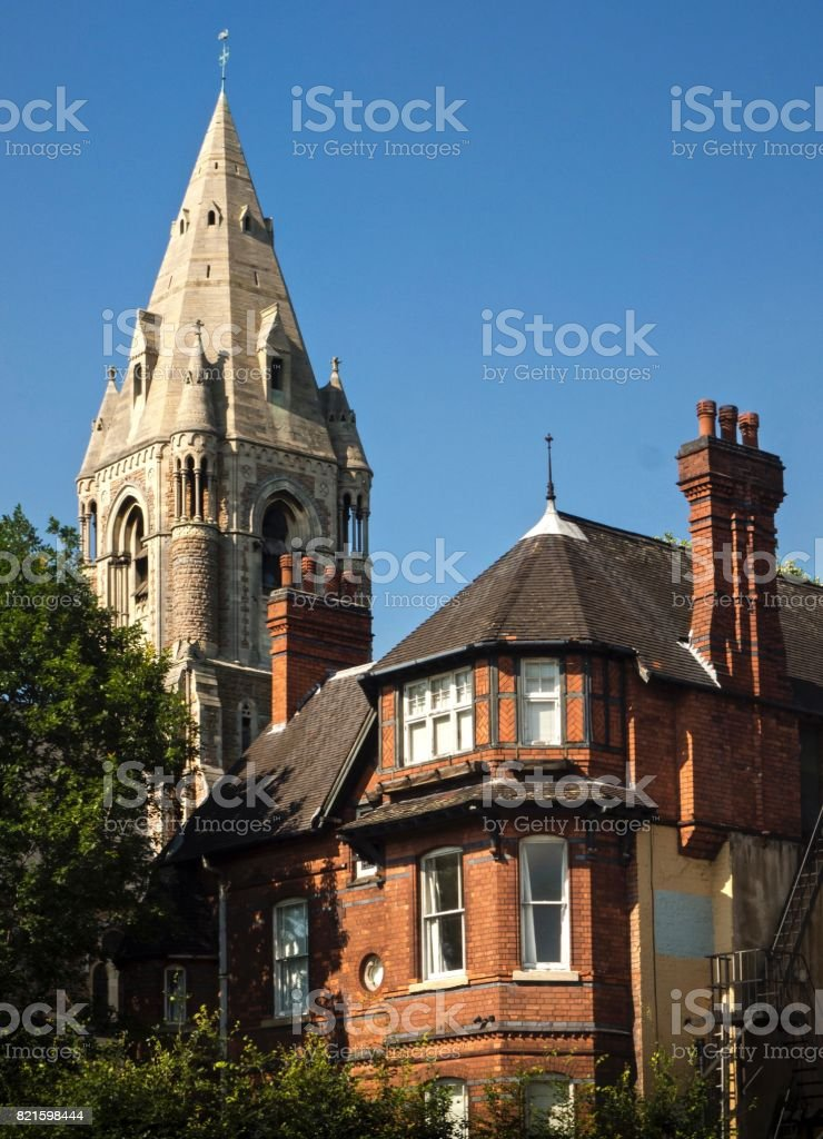 Part Of Historical Building , Downtown Nottingham , UK stock photo