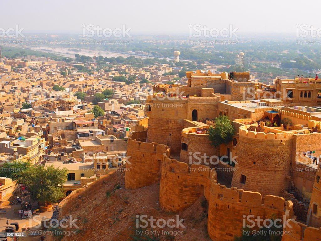 Part of Jaisalmer fort stock photo