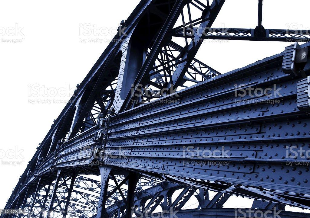 part of metal bridge royalty-free stock photo