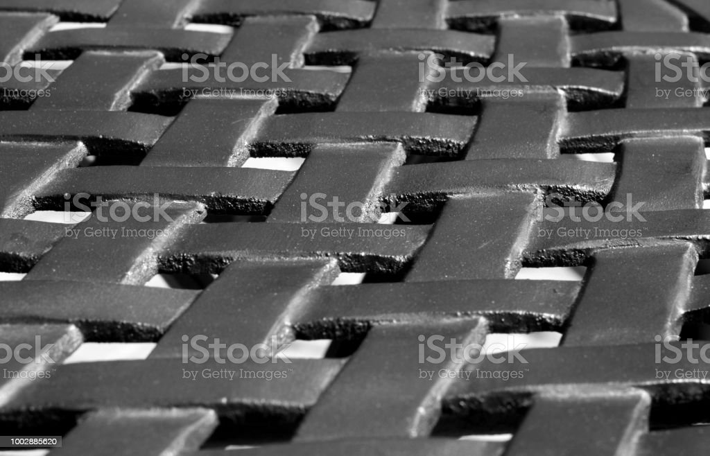 Part of metal construction pattern in black and white. Abstract...