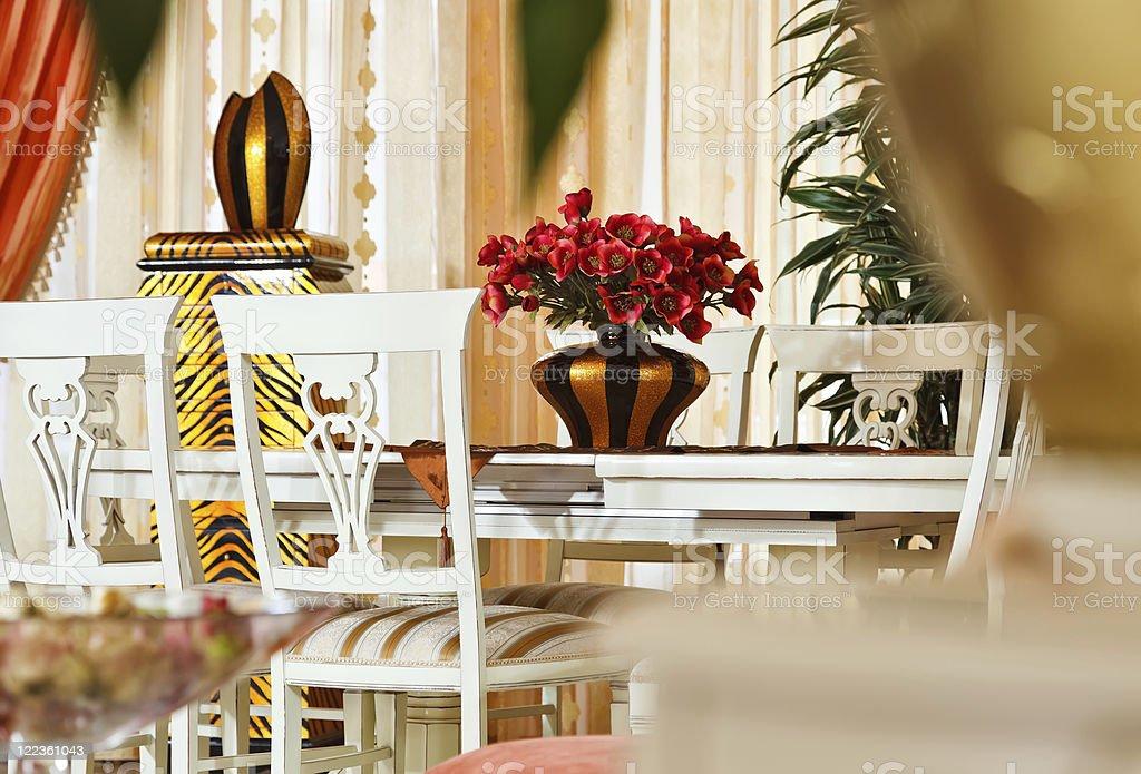 Part of modern art deco styledining room interior royalty-free stock photo